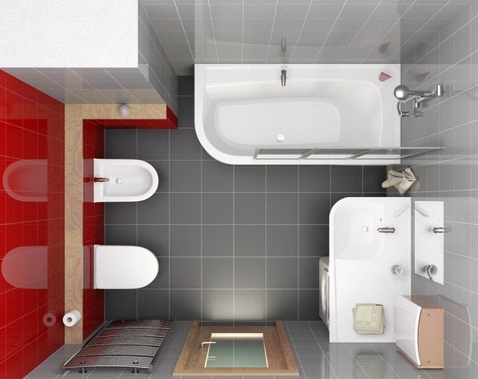 Перепланировки ванной комнаты - как перестроить санузел