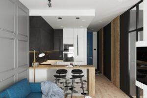 Объединение кухни с комнатой — кухня-гостиная