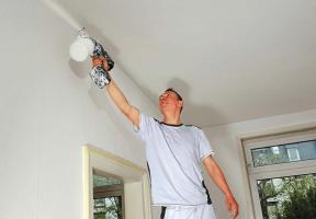 Как побелить потолок — побелка потолка